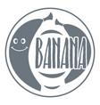 banana logo vintage style vector image