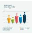 bar chart infographics elements 3d flat vector image vector image