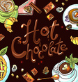beautiful background hot chocolate vector image vector image