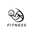 bicep fitness logo icon vector image