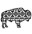 bison aztec style tribal design ethnic ornaments vector image vector image