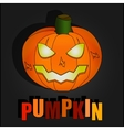 Black Halloween With Pumpkin vector image