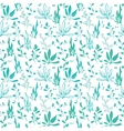 Blue Green Hand Drawn Seawedd Underwater vector image vector image