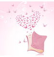 book with pink butterflies vector image vector image