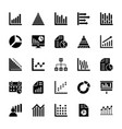 business charts and diagrams solid icons 1 vector image vector image