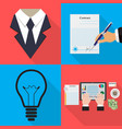 business icons on different backgrounds in flat vector image vector image