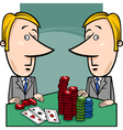 businessmen playing poker cartoon vector image vector image