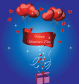 card with the text Happy valentines day vector image vector image