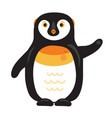 cartoon arctic penguin with raised wing vector image