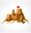 cartoon sand castle vector image vector image