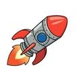 Cartoon spaceship 2 vector image