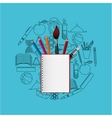 concept school elements student vector image