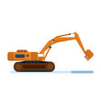 construction machinery industrial excavator vector image vector image