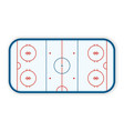 detailed of a icehockey rink field court eps10 vector image vector image