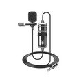 dictaphone microphone for reporters vector image vector image