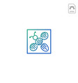 dna bee logo template icon element isolated vector image
