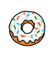 donut in the style of a traditional tattoo vector image