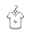 dotted shape shopping clothes in the market with vector image