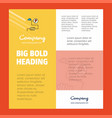 energy business company poster template with vector image