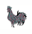 ethnic rooster vector image vector image