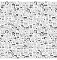 Faces - seamless bacground vector image