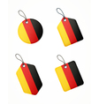 flag germany labels vector image vector image