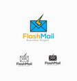 flash mail logo template vector image vector image