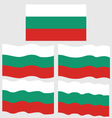Flat and Waving Flag of Bulgaria vector image vector image