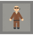 flat shading style icon male guard vector image vector image