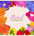 floral background for flower shops or invitation vector image vector image