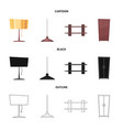 furniture and apartment vector image