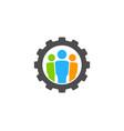 gear people logo icon design vector image