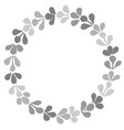 grey laurel wreath frame on white background vector image vector image