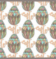 happy easter pattern with decorated hand drawn vector image vector image