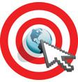 internet arrow clicks vector image vector image