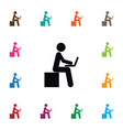 isolated developer icon learning element vector image vector image