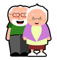 isolated grandparents icon vector image vector image