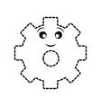 kawaii gear wheel icon