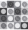 line craft web icons set for business in flat vector image vector image