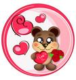 logo bear love vector image vector image
