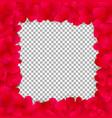 love valentines or wedding elegant fram with red vector image