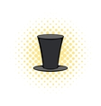 Male black cylinder icon comics style vector image vector image