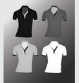 man polo t-shirt vector image