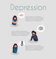 mental care and psychological support flyer design vector image vector image