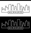milwaukee skyline linear style editable file vector image vector image