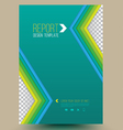 Modern abstract brochure Book cover vector image vector image