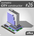 modern isometric skyscraper vector image vector image