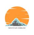 mountain emblem design vector image