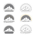 mountains logo set vintage design collection vector image vector image