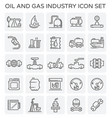 oil gas icon vector image